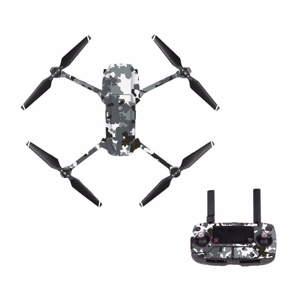[M0012] Camouflage For DJI Mavic Pro Decal Skin Sticker Drone Body + Remote Controller + 3 Battery Protection Film Cover