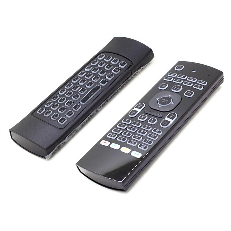 [100pcs/lot] MX3 RGB Backlit 2.4G Mini Wireless Keyboard Air Mouse For Android TV Box, Mini PC, Projectors, Laptops