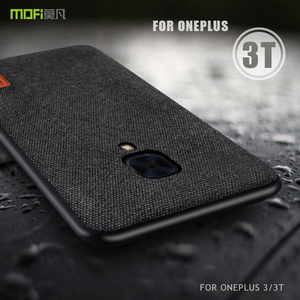 Image 1 - For Oneplus 3T Case MOFi 1+3T Case Oneplus 3 Case One Plus 3/3T Full Back Cover Soft Silicone Edge Case OP3T Fabric Frosted Case