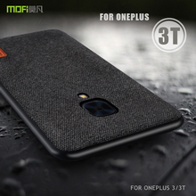 oneplus 3t Case Cover MOFI oneplus 3 Back Fabric Case One Plus 3/3T Full Cover Soft silicone edge Case OP3T Frosted Case 1+3T