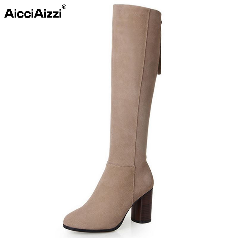 New Round Toe Knee High Real Genuine Leather Boots Fashion Women Shoes Ladies Medium Heel Autumn Boots Size 34-39 автомагнитола pioneer mvh x460ui