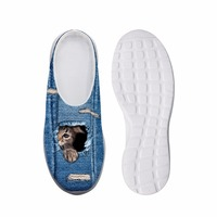 Noisy Designs for Women' s Shoes House Slippers Biology 3D Cowby Cat Prints Summer Beach Slippers for Kids Slip on Sandals