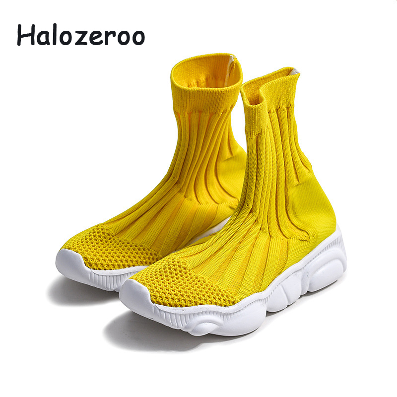 2019 Autumn Kids Sock Sneakers Baby Girls Slip On Casual Sneakers Children High Sport Sneakers Boys Black School Shoes Trainer2019 Autumn Kids Sock Sneakers Baby Girls Slip On Casual Sneakers Children High Sport Sneakers Boys Black School Shoes Trainer