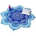 Nueva forma de la flor de loto mandala tapiz tapiz indio impreso floral hippie gypsy playa tiro toalla yoga mat manta 150 cm