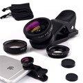 Mini Lápiz de ojo de Pez Gran Angular Macro 3 en 1 Universal Clip Teléfono lentes de la cámara para samsung lg htc htc xiaomi iphone 5 5s 6 6 s