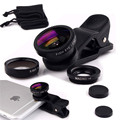 Mini Stylus Fisheye Macro Wide Angle 3 in 1 Universal Clip Phone Camera Lenses For Samsung LG HTC HTC xiaomi iphone 5 5s 6 6s