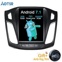 Aotsr Android 7.1 Tesla Car No DVD Player GPS Navigation For Ford Focus 2012-2018 Auto navigation stereo headunit multimedia