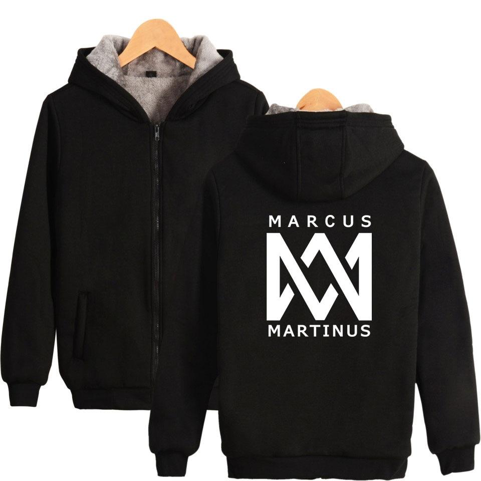 Marcus And Martinus Hoodies Women Hip Hop Dj Sweatshirt Pullovers Casaul Hoodie Moletom Feminino Warm Zipper Jacket Winter Coat