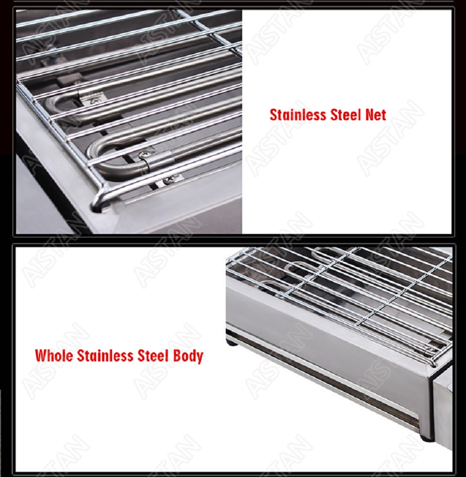 EB280 Electric Smokeless Barbecue Oven Grill for bbq machinery Stainless Steel High Power 15