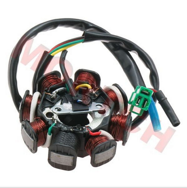 gy6 11 pole stator wiring diagram chinese scooter gy6 parts gy6 50cc 8 pole stator 5 wires ... 8 pole stator wiring