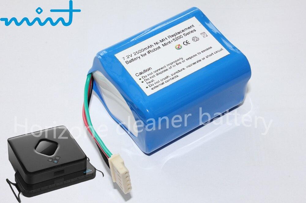 7.2V 2500mAh Cleaner Battery for Mint 5200 5200 Braava 380 380T Mopping Floor Cleaner цена