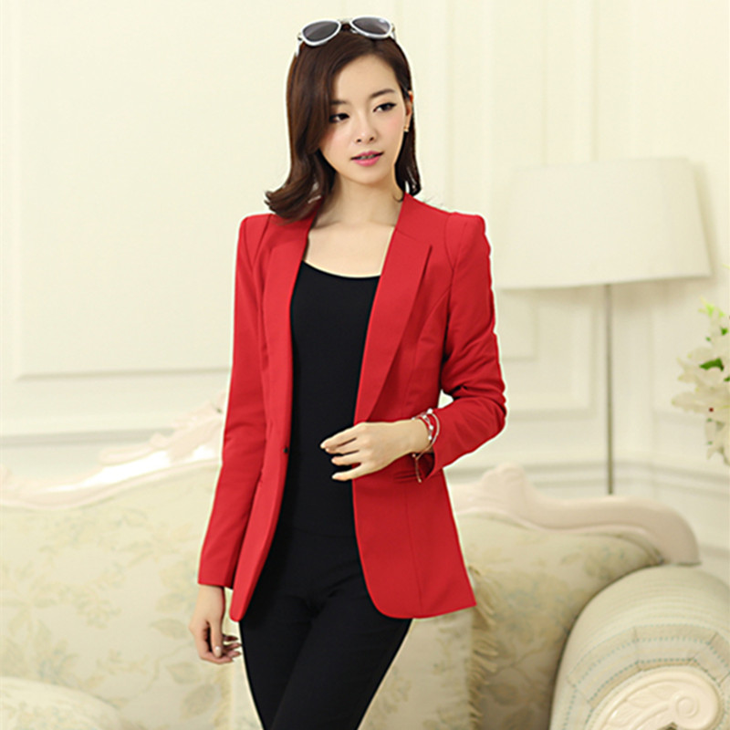 women clothing blazers female medium-long all-match long sleeve slim outwear woman suits ladies fashion design notched jackets