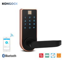 Fingerprint Bluetooth APP smart door lock, password and key access for home and hotel and apartment etc