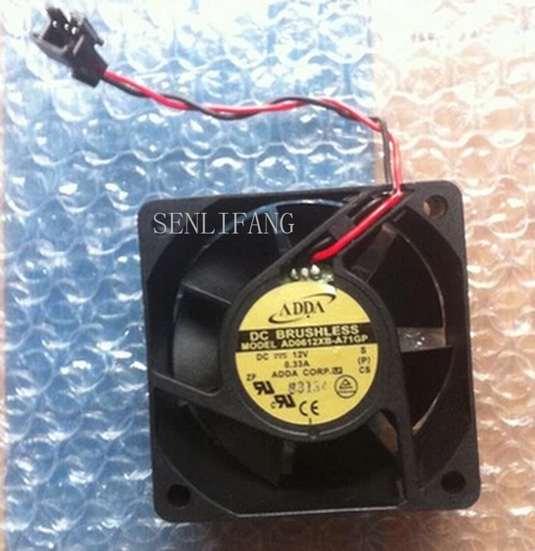 Free Shipping AD0612XB-A73GP 60*60*25 DC12V 0.33A 2 Wire Cooling Fan