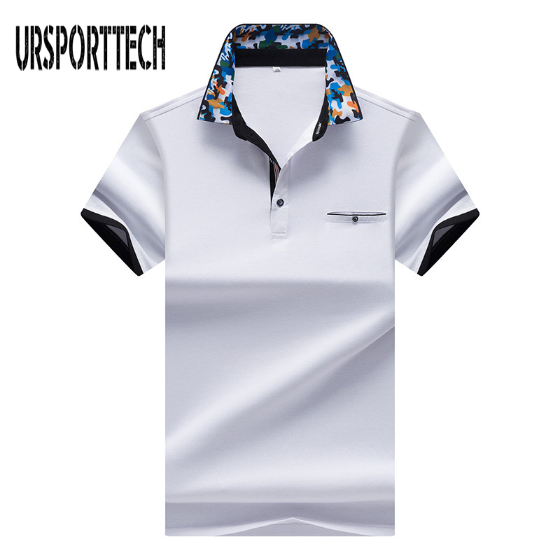 Brand Men's   Polo   Shirt Printed   Polo   Shirts Short Sleeve Men Slim Fit Camisas   Polo   Casual Stand Collar Male   Polo   Shirt Hommes 3XL