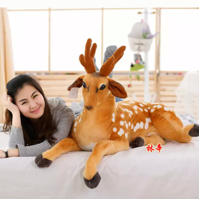 Giraffe plush toy doll, simulation deer, deer dolls, lovely gift woman birthday gift, Christmas gift lovely giant panda about 70cm plush toy t shirt dress panda doll soft throw pillow christmas birthday gift x023