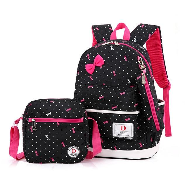 children School Bags Girls Primary school backpacks set kids bag ...
