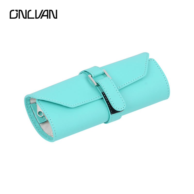 ONLVAN Jewelry Bags Mint Green Jewelry Pouches Flannel Jewelry Pouch Travel Jewelry Roll High Quality Make Up Bags changxing jewelry 6x8mm 14kt