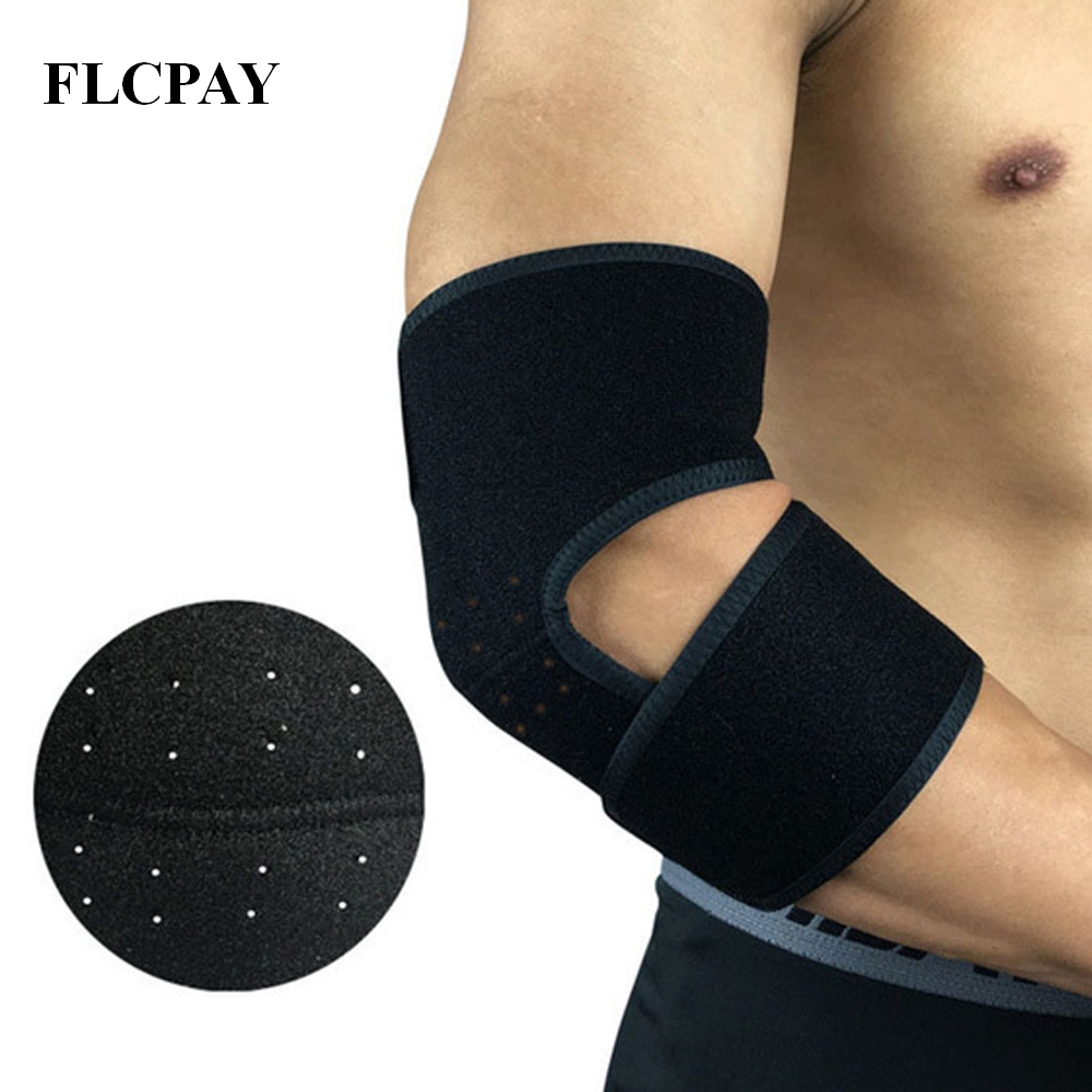 1PCS Bandage Tennis Elbow Support Protector Basketball Running Volleyball Riding Cycling Adjustable Elbow Pad Brace Protective