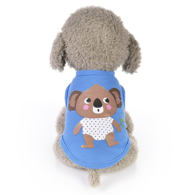 67392552875 New Pets Clothes For Small Dogs 1PC Summer Animals Cartoon Vest Dog Puppy  Costumes Pet Clothes