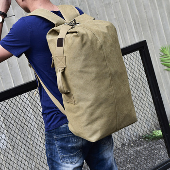 Backpack Style Purse | Big Travel Bag Large Capacity Men Hand Luggage Packs Canvas Out Purse Weekend Duffle Shoulder Backpack Khaki Black Off -road