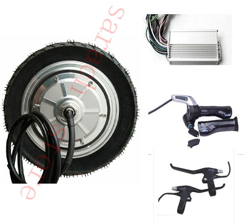 9 inch 500W 24V electric scooter wheel ,electric brushless non gear hub motor , electric scooter conversion kit