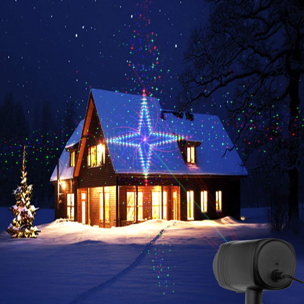 christmas garden laser lights moving rgb stars 20 patterns projector showers outdoor waterproof ip65 rf remote for xmas holiday in stage lighting effect