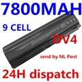 7800 mah nueva 9 cell batería del ordenador portátil para hp pavilion dv4 dv5 dv6 batería hstnn-ib72 hstnn-lb72 hstnn-lb73 hstnn