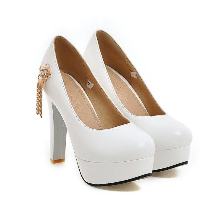Chaussures Rose Jane Mariage Mode forme Noir blanc De Pompes Talon Haute Mary Noir Femmes Dames rose Orteils Fermé Blanc bleu Pas Cher Bleu Plate pw4qZpT5
