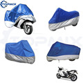 XL/XXL/XXXL Motorcycle Moto Cover Electric Bicycle Covers Blue+Silver Motor Rain Coat Waterproof Suitable for All Motors
