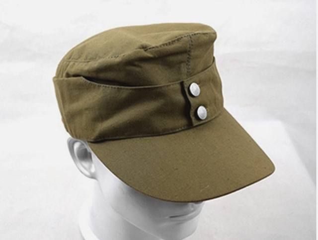 f90293664d6 WWII GERMAN AFRICA ARMY SUMMER PANZER M43 FIELD COTTON CAP MILITARY ...
