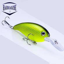 Купить с кэшбэком 1PCS Swim Fish Fishing Lure 10cm 14g Artificial Hard Crank Bait Topwater Wobblers Japan Mini Fishing Crankbait Lure Pesca Tackle