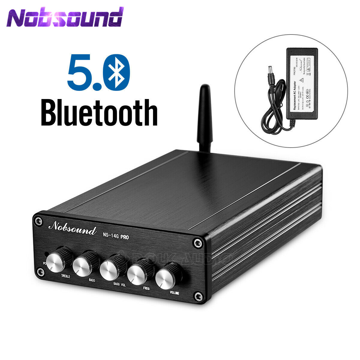Nobsound Bluetooth 5 0 HiFi TPA3116 Digital Power Audio Amplifier 2 1 Channel Stereo Audio Amp