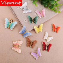 VIPOINT embroidery buttlefly patches animal badges applique for clothing YX-24