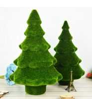 Artificial Pine Trees Fake Flower Plant Komatsu Moss pine tree Table display needles Christmas Home and Wedding Decor