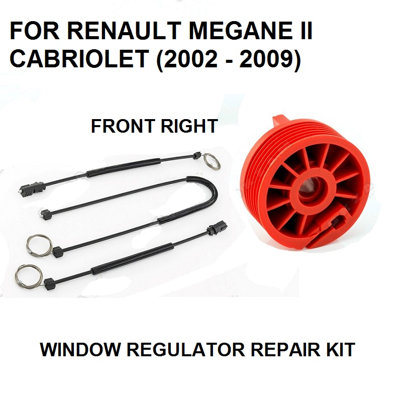 RENAULT MEGANE MK2 ELECTRIC WINDOW REGULATOR REPAIR KIT  FRONT LEFT 2002-2009
