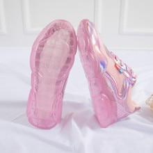 Bright sneakers women 2019 summer Joker Korean version hollow bear shoes jelly Torre small white Yasilaiya