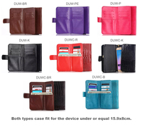 屋外レディストラップハンドカード財布レザー携帯電話ケースバッグポーチ用blackberry keyone水銀、zopoライオンハート