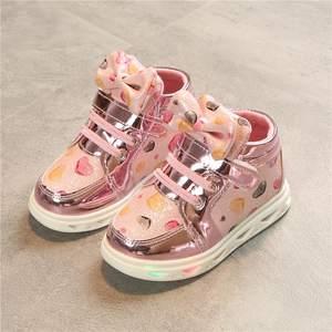 bacddc9712a410 YPYUNA Children Baby Girls Boys Sneakers Glowing Kids Shoes