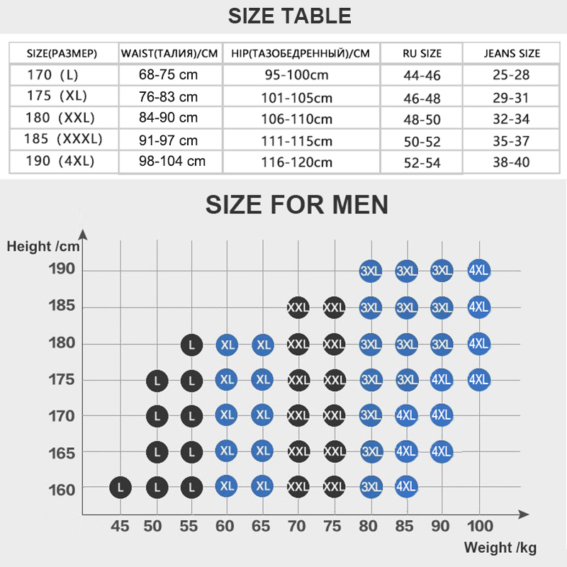 Size boxers