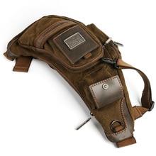 Ruil Vendita Calda! 2020 della tela di canapa versatile casuale sacchetti del messaggero della spalla per gli uomini retro borsa da viaggio di trasporto libero