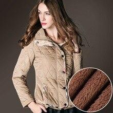 BURDULLY Hooded short section Slim cotton Coat Jacket Women's diamond lattice jackets Loose Was thin Plus size 2XL women Coats