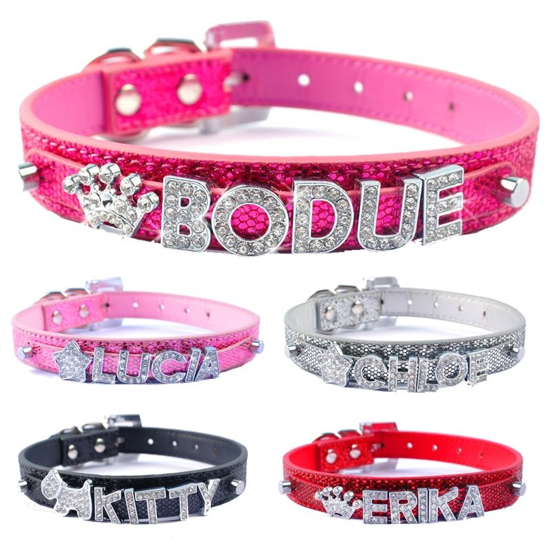 diy name dog collars bling personalized pet dog collar with diamond