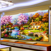 Needle Arts Crafts Diy Diamond Painting Cross Stitch Dream Home Diamond Embroidery Cabin Scenery Rubik S