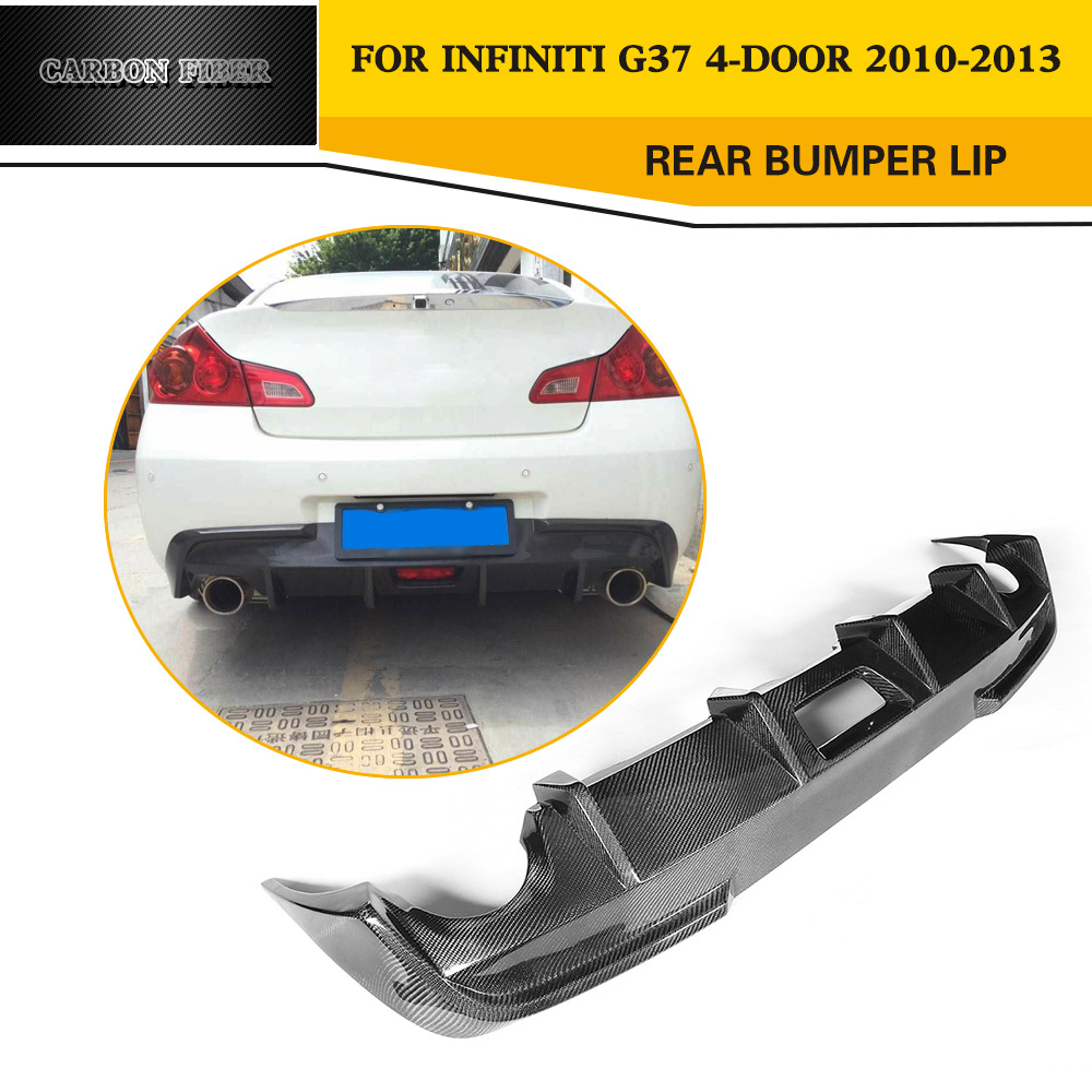 Estilo do carro Auto De fibra de Carbono Difusor Traseiro Lip para Infiniti  G37 viagem 4-Door sedan Bumper 2010-2013 a4eb910e59
