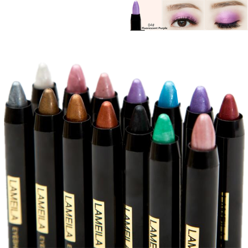 Brand 1 pcs New Beauty Different Colors Luminous Makeup <font><b>Eyeshadow</b></font> Pencil Charming Cosmetic Glitter Eye Shadow Eyeliner <font><b>Pen</b></font> image