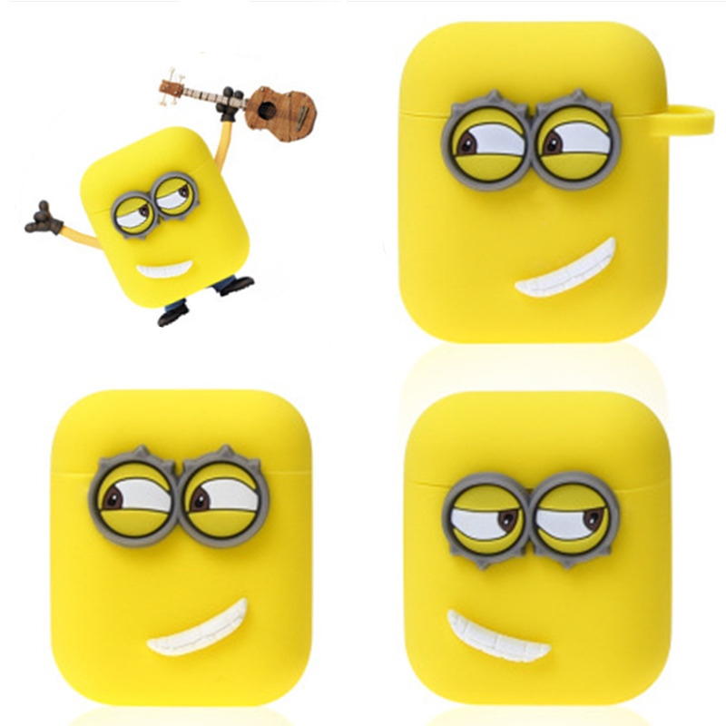 Image 2 - Cute Yellow Silicone Earphone Case For Apple Airpods i7 i10 TWS bluetooth Headphone Case Earphone Accessories For gifts-in Earphone Accessories from Consumer Electronics