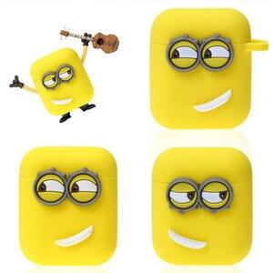 Image 2 - Śliczne żółty silikon słuchawki Case dla Apple Airpods i7 i10 TWS słuchawki z bluetooth Case akcesoria do słuchawek na prezenty