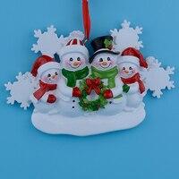 Großhandel Harz Schneemann Familie 4 Weihnachtsschmuck Personalisierte Geschenke, Können Schreiben Eigenen Namen Für Urlaub und Wohnkultur
