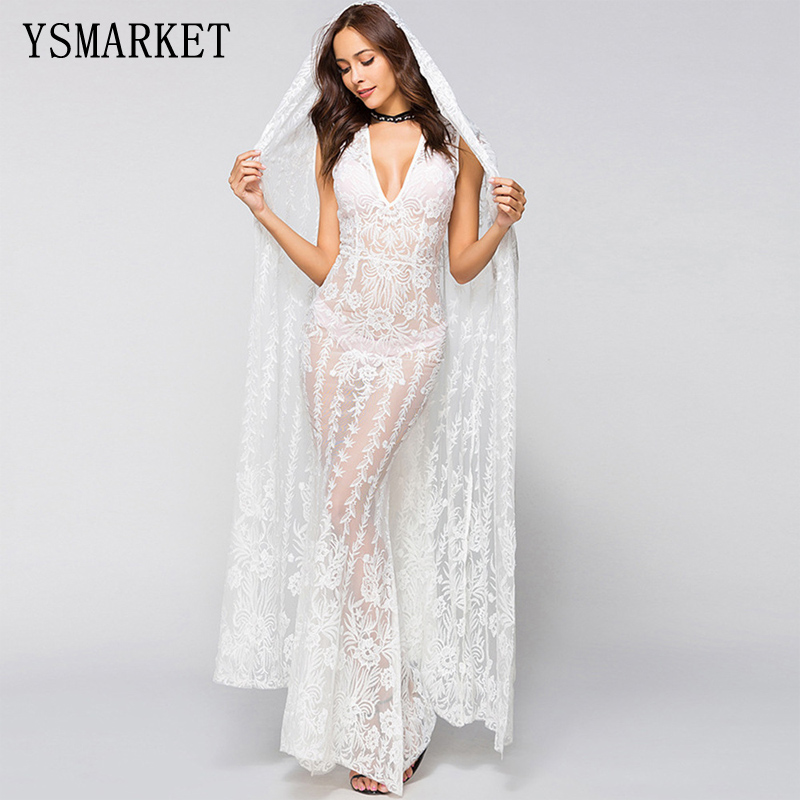Wedding Gown Cover Ups: Aliexpress.com : Buy 2018 Sexy Hollow Out White Lace Long